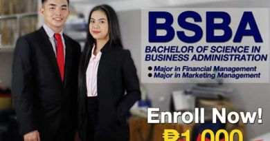 Bachelor of Science in Business Administration Major in Financal Management and Marketing Management.