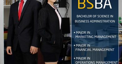 Bachelor of Science in Business Administration Major in Financial Management, Major in Marketing Management, Major in Operation Management.