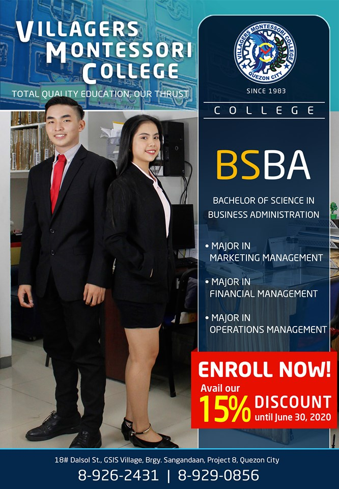 Bachelor of Science in Business Administration Major in Financial Management, Bachelor of Science in Business Administration Major in Marketing Management, Bachelor of Science in Business Administration Major in Operation Management.