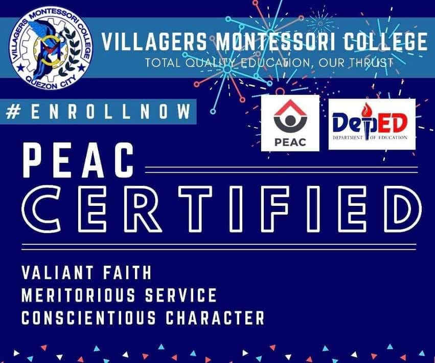 Private Education Assistance Committee (PEAC) CERTIFIED until SY 2024, Congratulations VMC